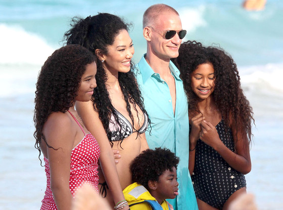 Kimora Lee Simmons, Ming Lee Simmons, Aoki Lee Simmons, Kenzo Lee Hounsou, Boyfriend